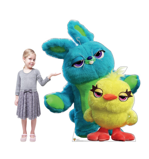 Ducky and Bunny - Toy Story 4 Cardboard Cutout Lifesize