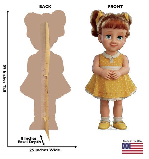 Gabby Gabby - Toy Story 4 Cardboard Cutout Front and Back View