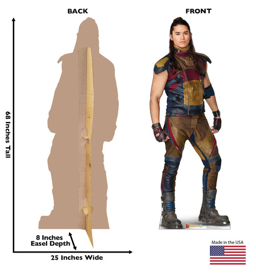 Jay - Disney's Descendants 3 Cardboard Cutout Front and Back View