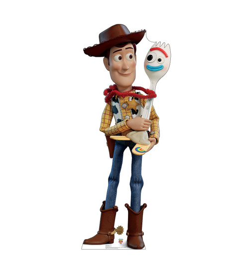 Woody and Forky Cardboard Cutout from Toy Story 4 Front View