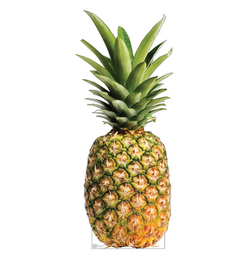 Life-size cardboard standee of a Pineapple Front View
