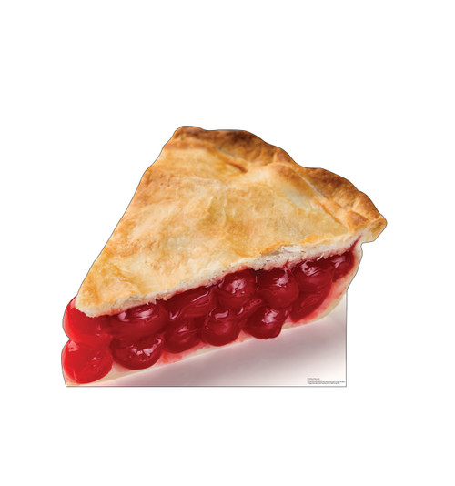 Life-size cardboard standee of a Slice of Cherry Pie Front View