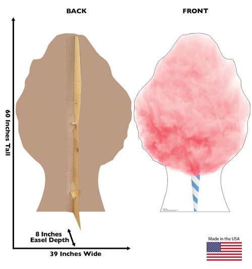 Life-size cardboard standee of Cotton Candy Front and Back View