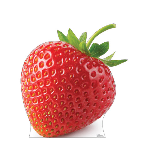 Life-size cardboard standee of a Strawberry Front View