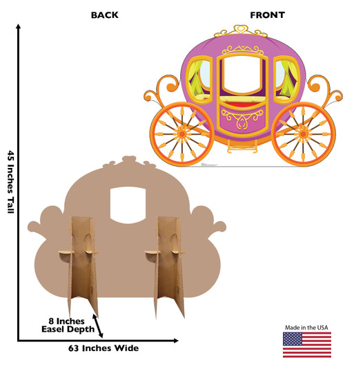 Life-size cardboard standin of a Carriage Front and Back View