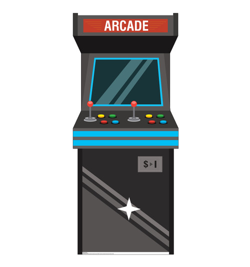 Life-size cardboard standee of an Arcade Game.