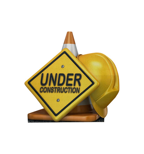 Life-size cardboard standee of a Under Construction Sign Standee.