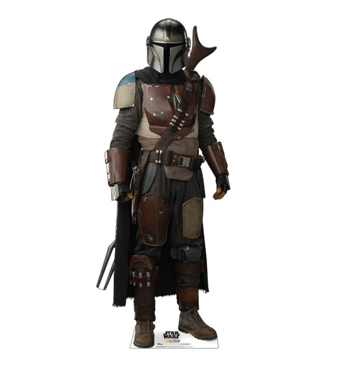 Life-size cardboard standee of The Mandalorian.