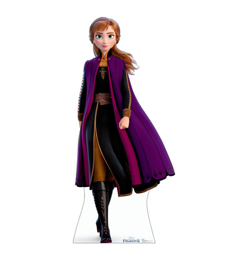 Life-size cardboard standee of Anna from Disney's Frozen 2).