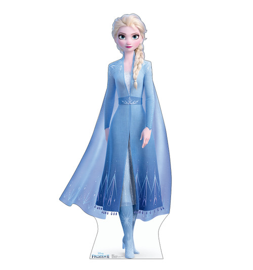 Life-size cardboard standee of Elsa from Disney's Frozen 2).