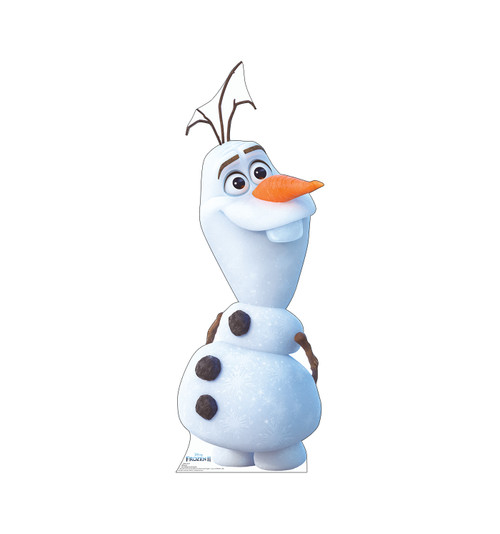 Life-size cardboard standee of Olaf from Disney's Frozen 2).