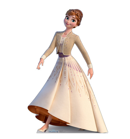 Life-size cardboard standee of Anna (Collector's Edition) from Disney's Frozen 2.