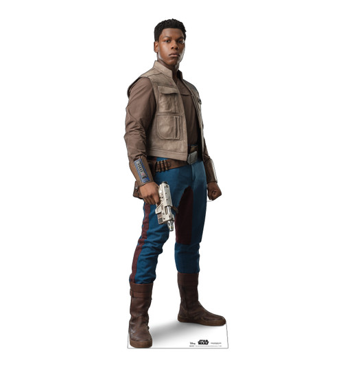 Life-size cardboard standee of Finn™ (Star Wars IX).