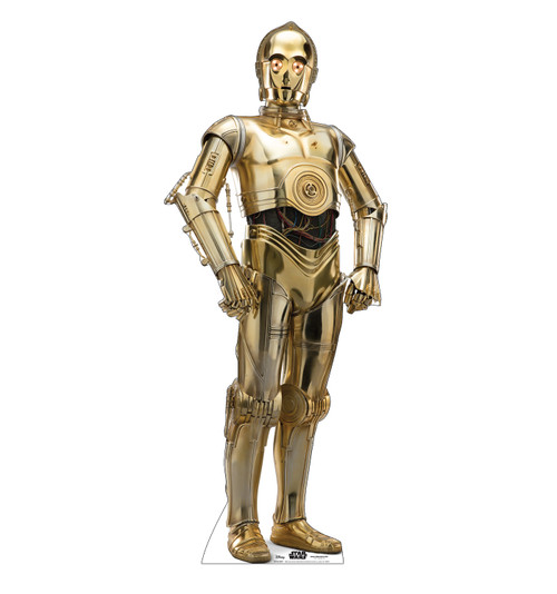 Life-size cardboard standee of C-3PO™ (Star Wars IX).