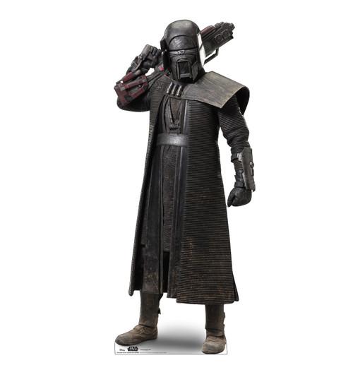 Life-size cardboard standee of Knight of Ren Blaster Rifle Warrior™ (Star Wars IX).