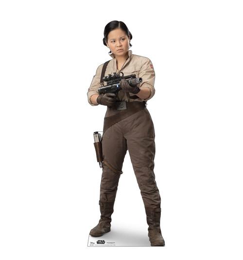 Life-size cardboard standee of Rose™ (Star Wars IX).