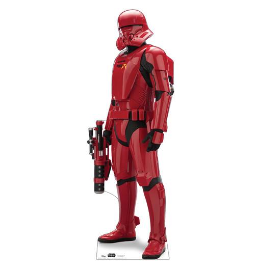 Life-size cardboard standee of Sith Jet Trooper™ (Star Wars IX).