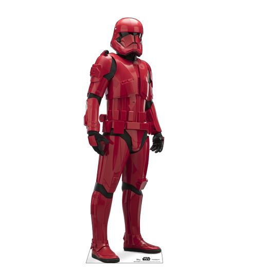 Life-size cardboard standee of Sith Trooper™ (Star Wars IX).