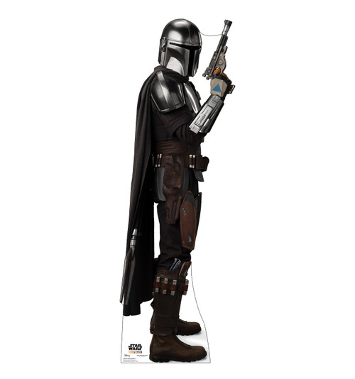 Life-size cardboard standee of The Mandalorian fromThe Mandalorian.
