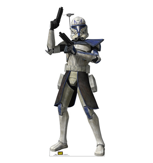 Life-size cardboard standee of the character Captain Rex from Clone Wars Season 7.