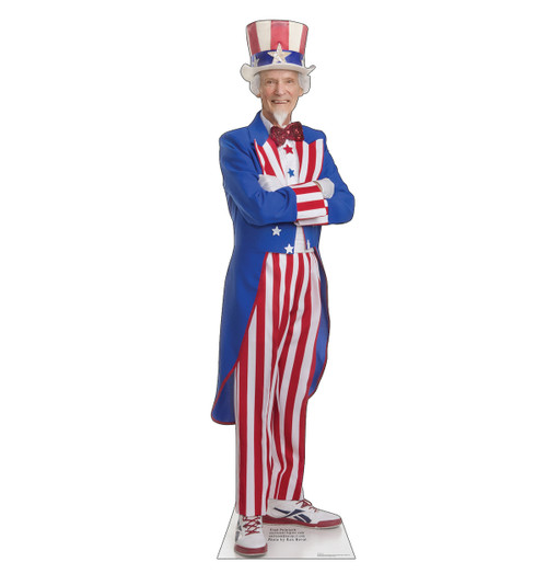 Life-size cardboard standee of Uncle Sam front.