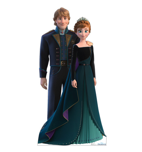 Life-size cardboard standee of Anna and Kristoff from Disney's Frozen 2.