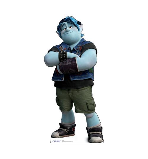 Life-size cardboard standee of Barley from Disney/Pixar's film Onward.