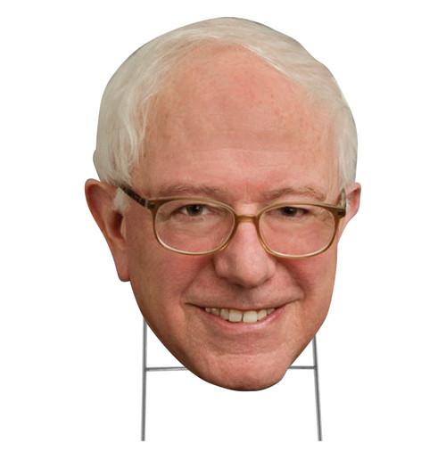 Outdoor coroplast big head of Bernie Sanders with H-Stake