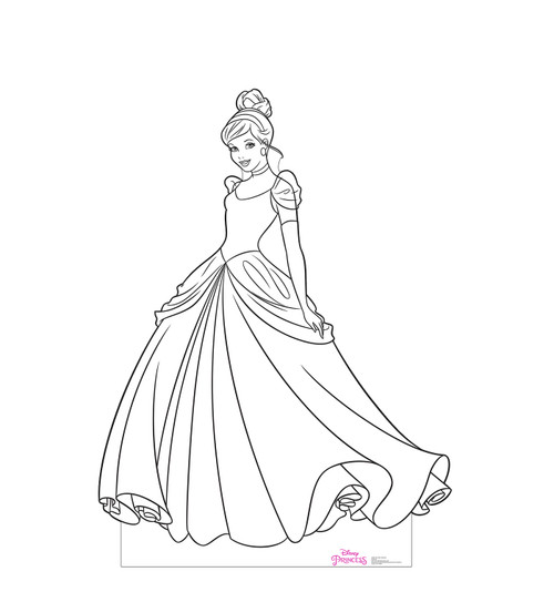 Life-size cardboard standee of Color Me Cinderella from Disney Princesses.