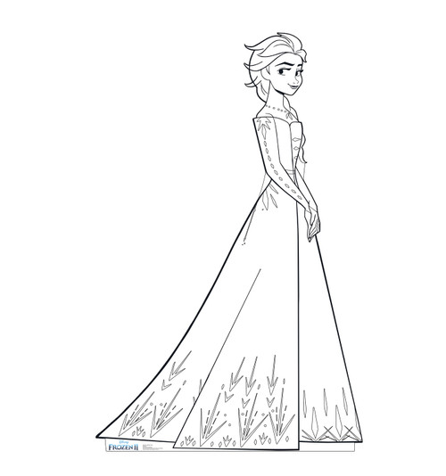 Life-size Color Me Elsa Standee.