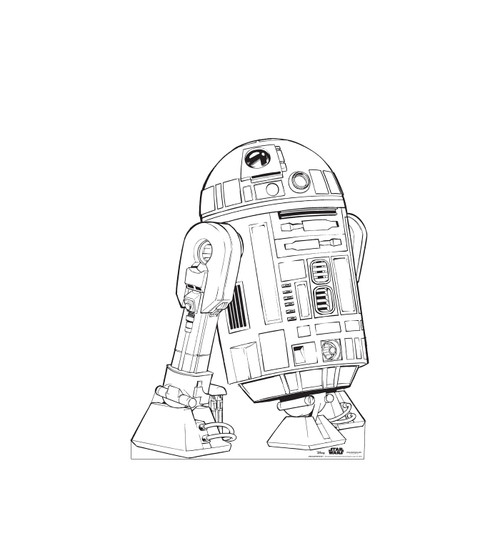Life-size Color Me R2-D2 Standee.