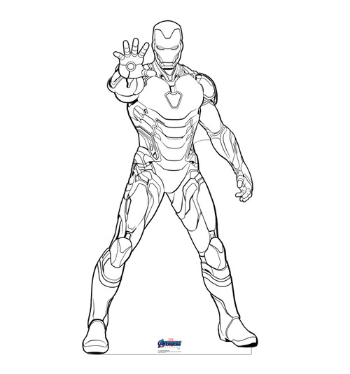 Life-size Color Me Iron Man Standee.