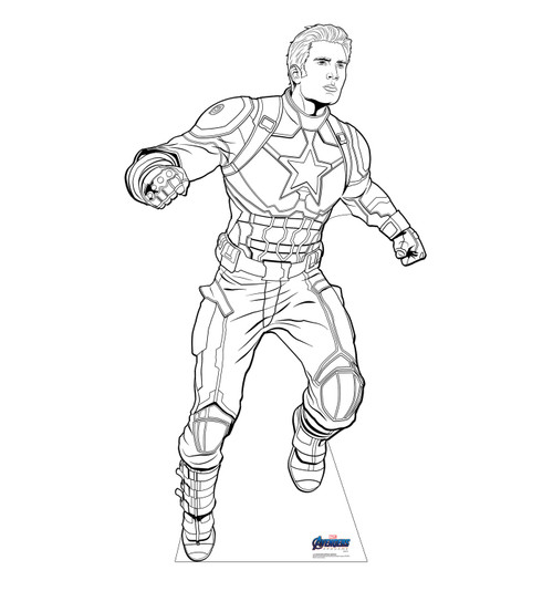 Life-size Color Me Captain America Standee.