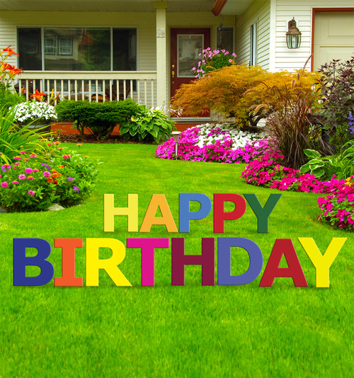 Coroplast Happy Birthday Yard Sign