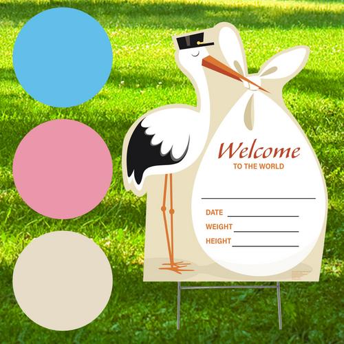 New Baby Outdoor Stork Standee