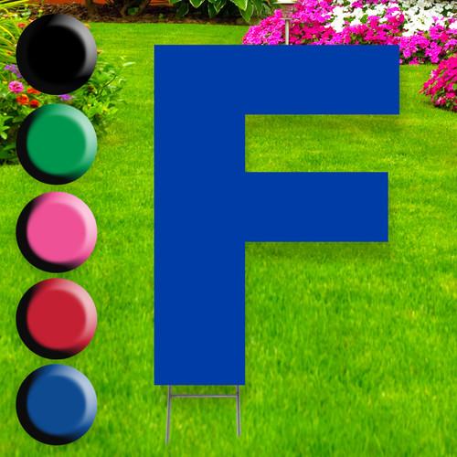 Letter F yard sign