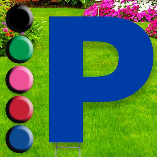 Letter P yard sign