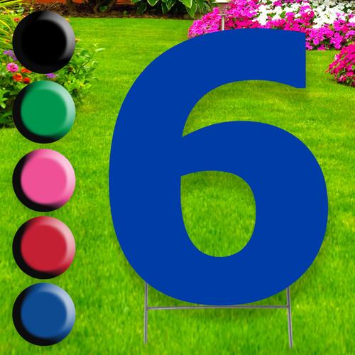 Number 6 yard sign