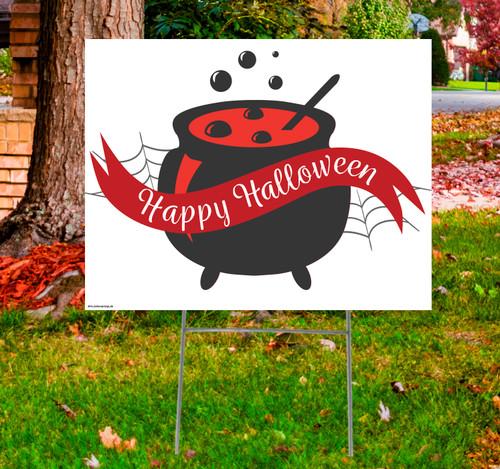 Coroplast outdoor Halloween Sign 06.