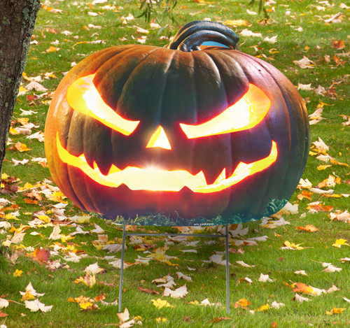 Coroplast outdoor Scary Pumpkin Yard Sign.