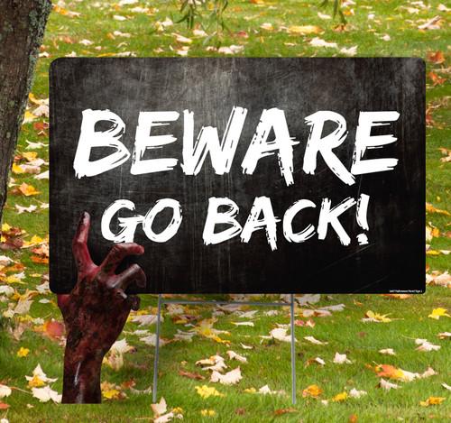 Coroplast outdoor Halloween Hand 2 Yard Sign.