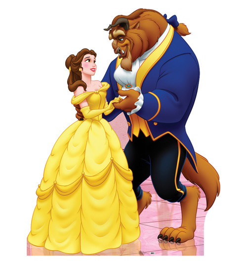 Belle and Beast (Beauty and the Beast) Cardboard Cutout