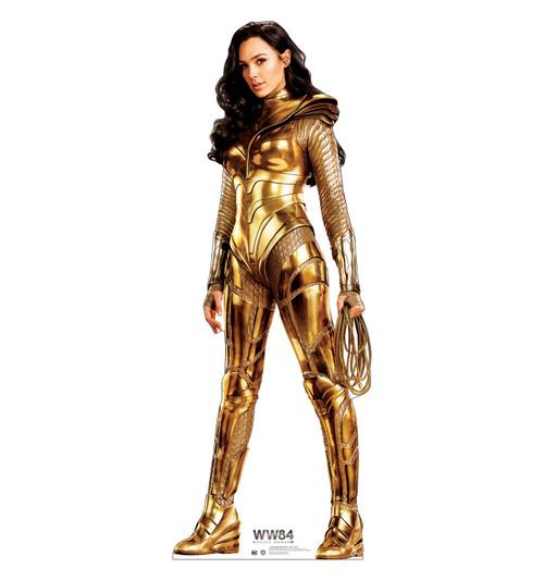 Wonder Woman 1984 Gold cardboard standee.