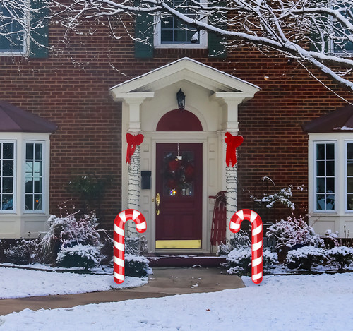 Coroplast outdoor Candy Cane Yard Sign Set of 2.