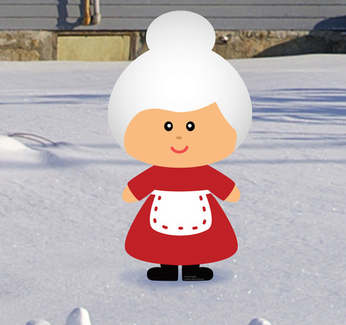 Coroplast outdoor Mrs. Claus Yard Sign.