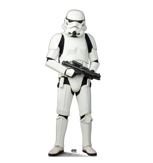 Life-size cardboard standee of a Stormtrooper.