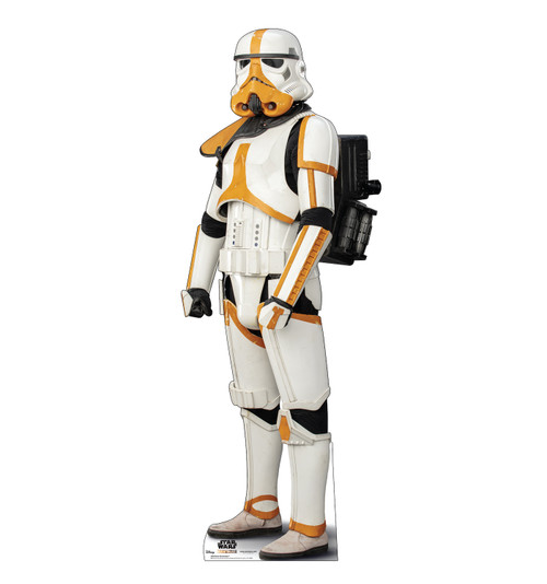 Life-size cardboard standee of a Mortar Stormtrooper.