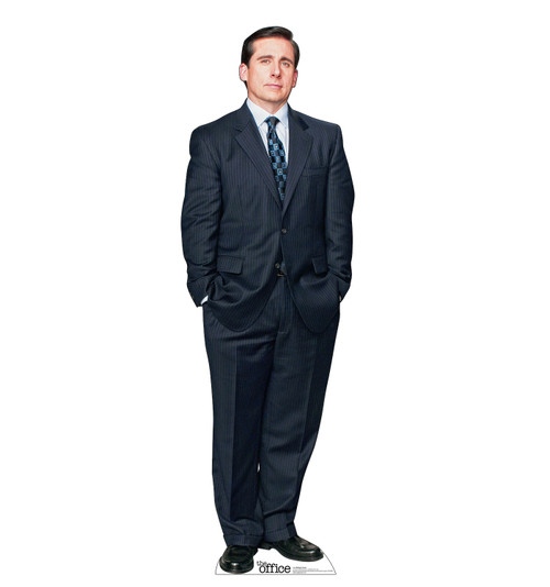 Life-size cardboard standee of Michael Scott from the Office TV show.