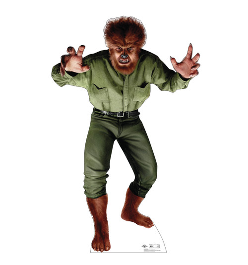 Life-size cardboard standee of Wolf Man from Universals Monsters Collection.