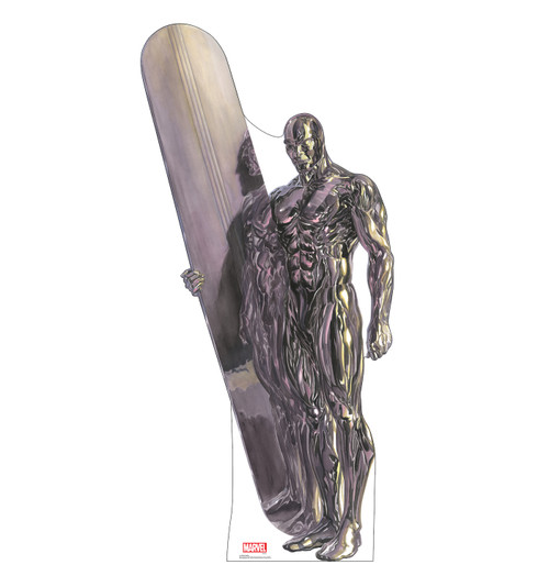 Life-size cardboard standee of Silver Surfer from Marvels Timeless Collection.